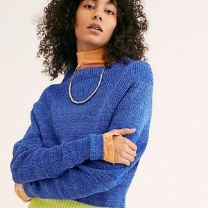 Free People Too Good Mockneck Pullover Sweater